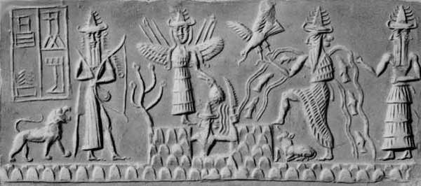 [Image: Ishtar (Venus) aids in the resurrection of Shamash (Jupiter)]