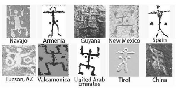 [Image: Petroglyph renderings of the Giants]
