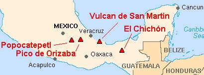 [image: Volcanoes in Central Mexico.]