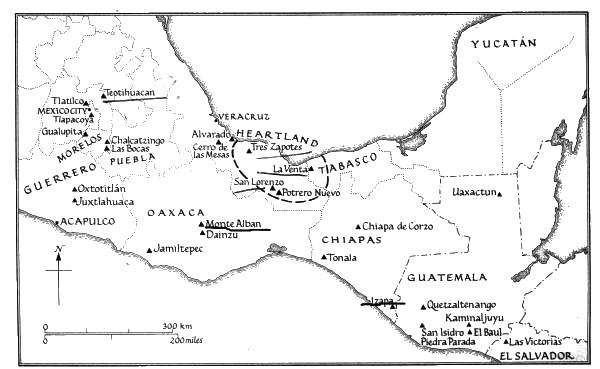 [image: Earliest Mesoamerican sites]